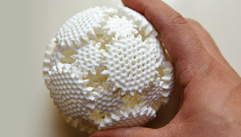 Mechaneu v1 / 3D printed spherical gear system kinetic sculpture