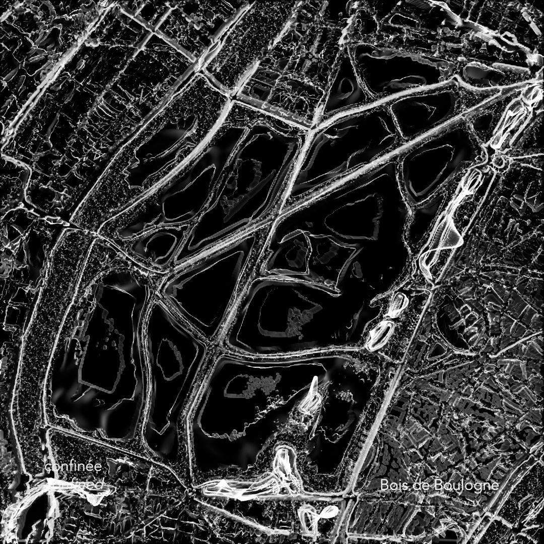 Cartes des Silences – Paris habituelle / confinée